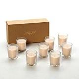 HG Global Hosley, très parfumée Lot de 8, Gousse de vanille, huiles essentielles, bougies votives en verre clair. Brûle jusqu'à ...