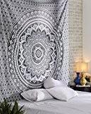 Hippie bohémien Tapisserie Indien Ombre Décoration murale Floral coton Tenture Boho Tapestry murale Par Rajrang