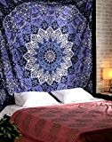 Hippie Indien Tapisserie décoration murale Étoile Violet Tenture Coton Grand bohémien Mandala Tapestry murale Par Rajrang