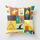 Home Linen Style Housse de coussin coussin coton Harry Potter - 45 X 45 cm à Design carré