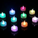 Homemory Lot de 12 Lumières Bougies à LED, Changement de Couleur, Sans Flamme, Réaliste et Bright, Puissance de la Batterie, ...