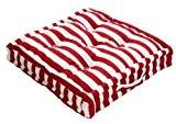 Homescapes Coussin de Chaise à rayures épaisses de couleurs Rouge et Blanc fait en 100 % Coton de 40x40 cm ...