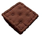 Homescapes Coussin de sol – Galette de chaise – Chocolat 40x40x10cm – Collection Rajput 100% Coton
