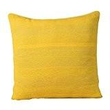 Homescapes Housse de Coussin – Jaune Mandarine 45x45cm – Collection Rajput 100% Coton