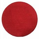 Homescapes Tapis décoratif rond couleur Rouge 150 cm de diamètre en 100% Coton