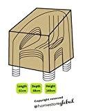 HomeStore Global, Housse de protection pour 4 chaises de jardin empilables – Épais et de haute qualité durable 600D Polyester ...