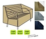 HomeStore Global Housse de protection pour banc de jardin avec accoudoires arrondis – Épais et de haute qualité durable 600D ...