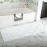 HomJo Tapis antidérapant de salle de bain absorbant absorbant couronne fleur flocage tapis de cuisine tapis antidérapant mat 45 * ...