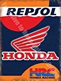 Honda Repsol HRC équipe de course Garage Métal/Panneau Mural Métalique - 20 x 30 cm