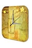 Horloge Plantes Décoration Jasmin d'hiver Imprimee Plexiglas