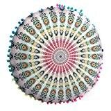 Housse De Coussin, Angelof Mandala Indien Rond Plancher Oreillers BohèMe Oreillers Coussin Polyester Housse de Coussins (43*43cm) (D)