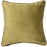 Housse de coussin en velours Vert citron mat, passepoilé, 43 cm x 43 cm. De la luxueuse collection McAlister
