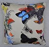 Housse de coussin Motif papillon Parade DESIGNERS GUILD Tissu Impression numérique Couvre-lit décoratif taie d'oreiller 40,6x 40,6cm