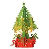 Hrph Pop Up Manuel Pliable 3D Carte de Voeux Joyeux Noël Arbre de Noël Creux en Motif Carte Postale Sapin ...