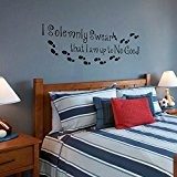 "I Am Up to No Good Harry Potter Sticker mural citation mots anglais Chambre Décoration, Vinyle, noir, 15""hx46""w"