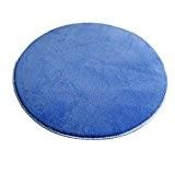 Icegrey Tapis Shaggy Tapis De Salon à Longs Poils Antidérapage Rond Tapis De Sol Pour Table De Salon Chambr Bleu ...