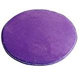 Icegrey Tapis Shaggy Tapis De Salon à Longs Poils Antidérapage Rond Tapis De Sol Pour Table De Salon Chambr Violet ...