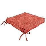 Icrafts Pure 100% coton de cuisine Assise Coussin de chaise avec attaches pour éviter les coulissante carré Rouge Galette de ...