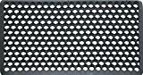 ID Mat 4060 Caillebotis Hexagone Bords Biseautés Caoutchouc Noir 60 x 40 x 0,9 cm