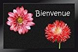ID Mat 4060 Decomat Fleurs Bienvenue Tapis Paillasson Fibre Polyamide/PVC Noir 60 x 40 x 0,5 cm