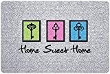 ID Mat 4060 Grey'Flock Home Sweet Home Tapis Paillasson Fibre Polypropylène Gris 60 x 40 x 0,6 cm