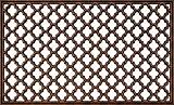 ID Mat 4575 Ebène Antique Tapis Paillasson Caoutchouc Bronze 75 x 45 x 0,8 cm