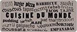 ID Mat 50120 Cuisine du Monde Tapis Fibre Polyamide/PVC Beige 120 x 50 x 0,4 cm