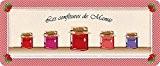 ID Mat 50120 Granny Confiture de Mamie Tapis de Cuisine Fibre Polyamide/PVC Rouge 120 x 50 x 0,4 cm