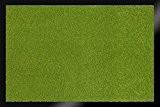 ID Mat 608014 Unicouleur Tapis Paillasson Fibre Polypropylène/PVC Vert Pomme 80 x 60 x 0,70 cm