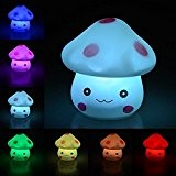 Ifly Online 7 couleurs Creative Led Mushroom Night Light Gradient souple avec bouton Batterie Fête de Noël Decor Manufacturer: Ifly ...