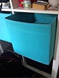 IKEA Drona Lot de 4 boîtes de rangement en tissu compatible avec Kallax Bleu 33x 38,1x 33cm
