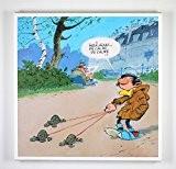 Impression sur toile - Gaston Lagaffe - Promenade. Un produit 100 % belge !