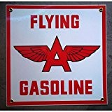 inconnu - plaque emaillée flying gasoline carré deco aviation avion us