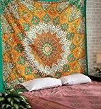 Indian Star Mandala Psychedelic Tapisserie, Hippie Bohemian tapisserie tenture, lit couverture couvre-lit Literie, ethnique Home Decor Par Rajrang