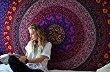 Indien Mandala Tapisserie hippie décor grand coton Wall Hanging bohémien Tenture Fleur Tapestry Par Rajrang