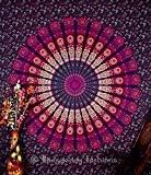 Indien Motif floral indien Bedsheet couvre Tenture, drap de plage, en pique-nique de qualité Hippie murale Motif bohème Motif Mandala, ...