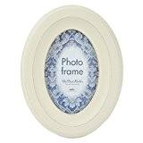 Innova PI03731 Casa Vintage Cadre Photo Ovale MDF Blanc 10 x 15 x 3 cm