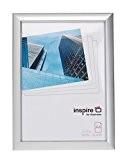 Inspire pour Business Stanford 21x 30cm A4Pelle facile Cadre photo/poster–Argent