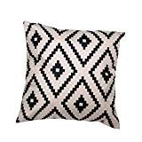 Internet canapé lit Home Café Decor taie d'oreiller Carré housse de coussin Toile de lin Invisible fermeture à glissière 45cm*45cm ...