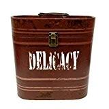 Invite la bouche X Delicacy-Caisse en bois avec fourrure vinyle Avec Fermoir en métal Marron
