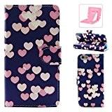 iphone 6 plus Coque Rabat, Ekakashop Apple iphone 6s plus (5.5 pouce) Joli Colorée Peinture Peu d'amour rose Motif Flip ...