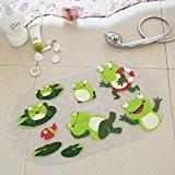 ivalue Tapis de bain en PVC antidérapant Tapis de douche baignoire avec ventouse pour enfants, grenouille, 39x69cm