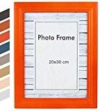 Jago - Cadre photo – format 20 x 30 cm – en MDF – orange - TAILLE ET COULEUR AU ...