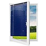 Jalousie store vénitien en aluminium bleu 100 x 180 cm (largeur x longueur)