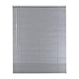 Jalousie Store vénitien en aluminium de haute qualité jalousette Store 155x 120cm/155x 120cm en couleur argent–Le côté d'utilisation gauche/Store/fenêtre/fensterjalousette/lamelles en ...