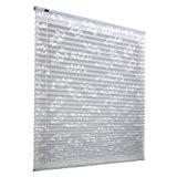 JALOUSIESCOUT Store plissé ECO pose libre | Montage Klemmfix sans percer | 80 x 180cm | blanc-motif de feuilles | ...