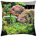 japanese garden - Throw Pillow Cover Case (16