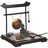 Jardin Zen Japonais - avec gong, statuette bouddha...