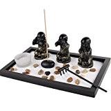 Jardin Zen Japonais - Spécial Les 3 Bonzes de Sagesse - Déco Asiatique