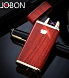 Jobon double arc one second vite une Cigarette ZB-838 (high grade Mahogany) USB Rechargeable Windproof Flameless with gift box